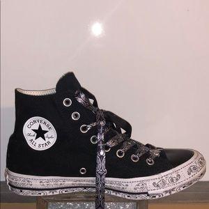 Converse Miley Cyrus Black High Top Paisley